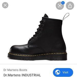 Dr.martens ankle leather black boots